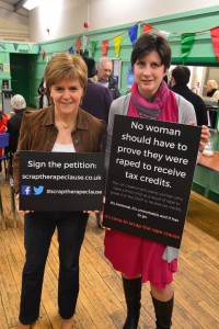 Alison Thewliss MP and Nicola Sturgeon MSP call on the UK Government to scrap the rape clause