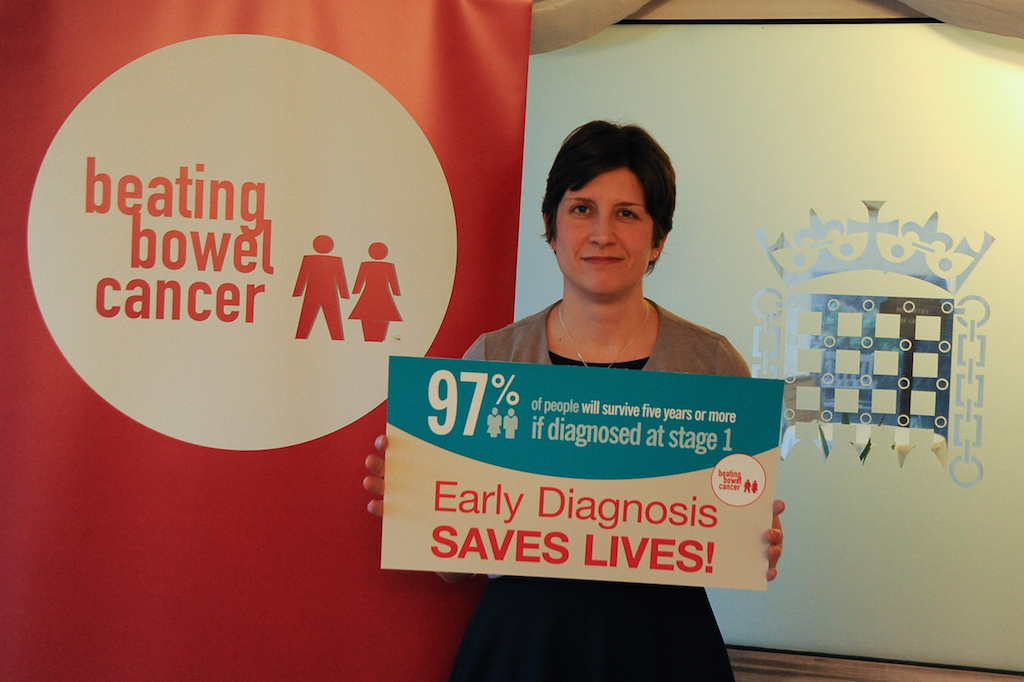 Alison Thewliss MP backs bowel cancer charity plans
