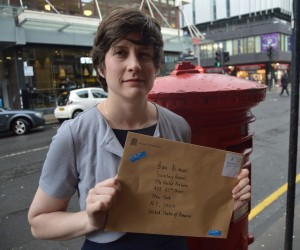 Alison Thewliss MP with a letter to Ban Ki-Moon, Secretary General of the United Nations