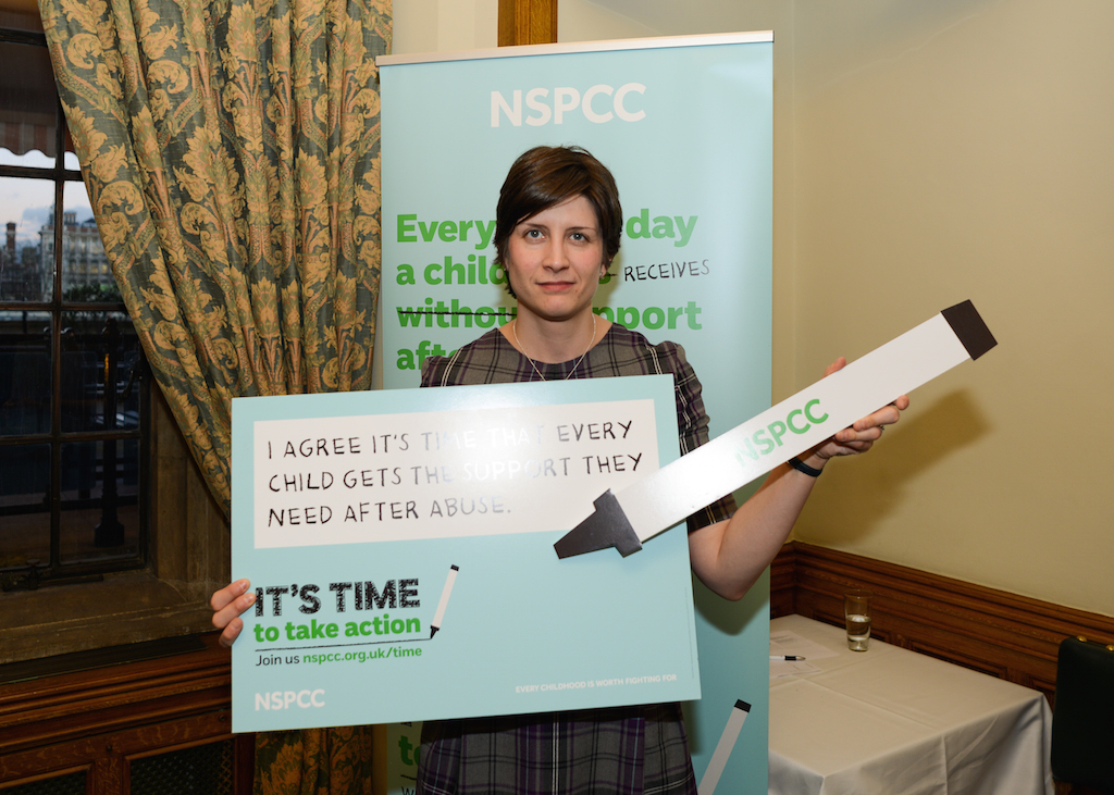 Alison Thewliss MP supporting the NSPCC's It's Time campaign