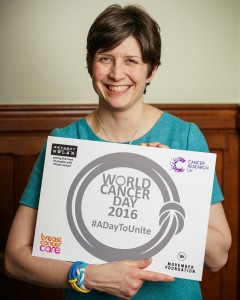 Alison Thewliss MP supporting World Cancer Day