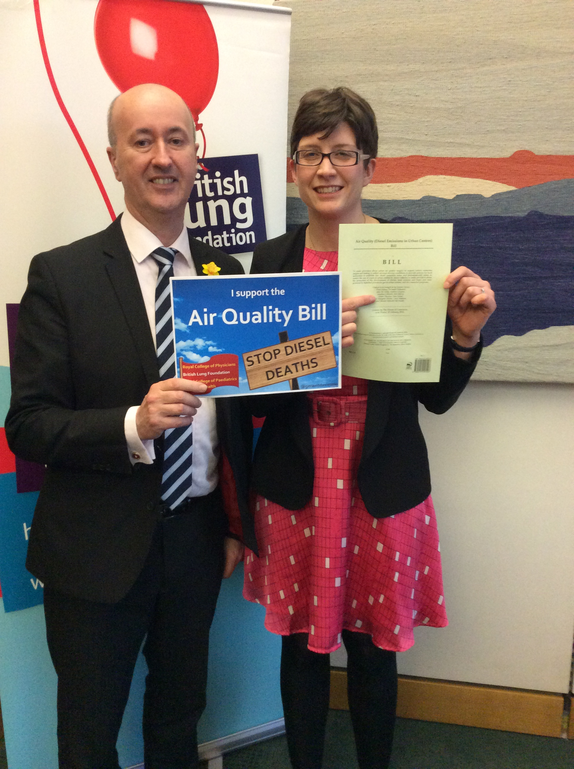 Alison Thewliss MP and Geraint Davies MP present the Air Quality Bill to reduce deaths from diesel emissions