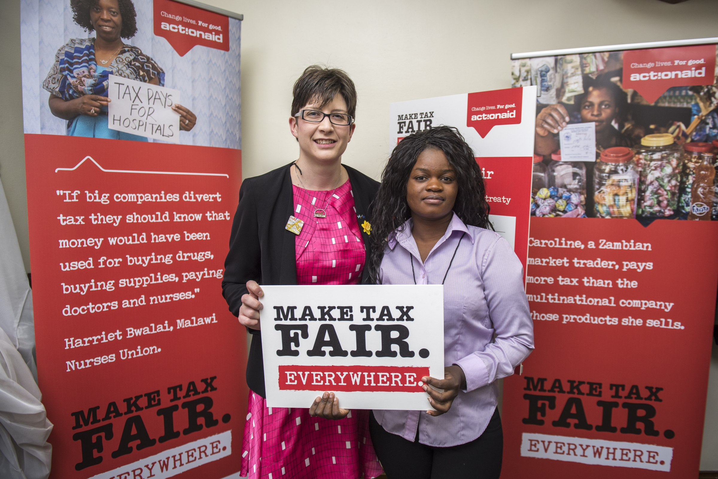 Alison Thewliss MP joins ActionAid to call on the UK Government to tackle tax avoidance