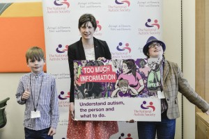 Alison Thewliss MP at the launch of the Too Much Information campaign supported by the National Autistic Society