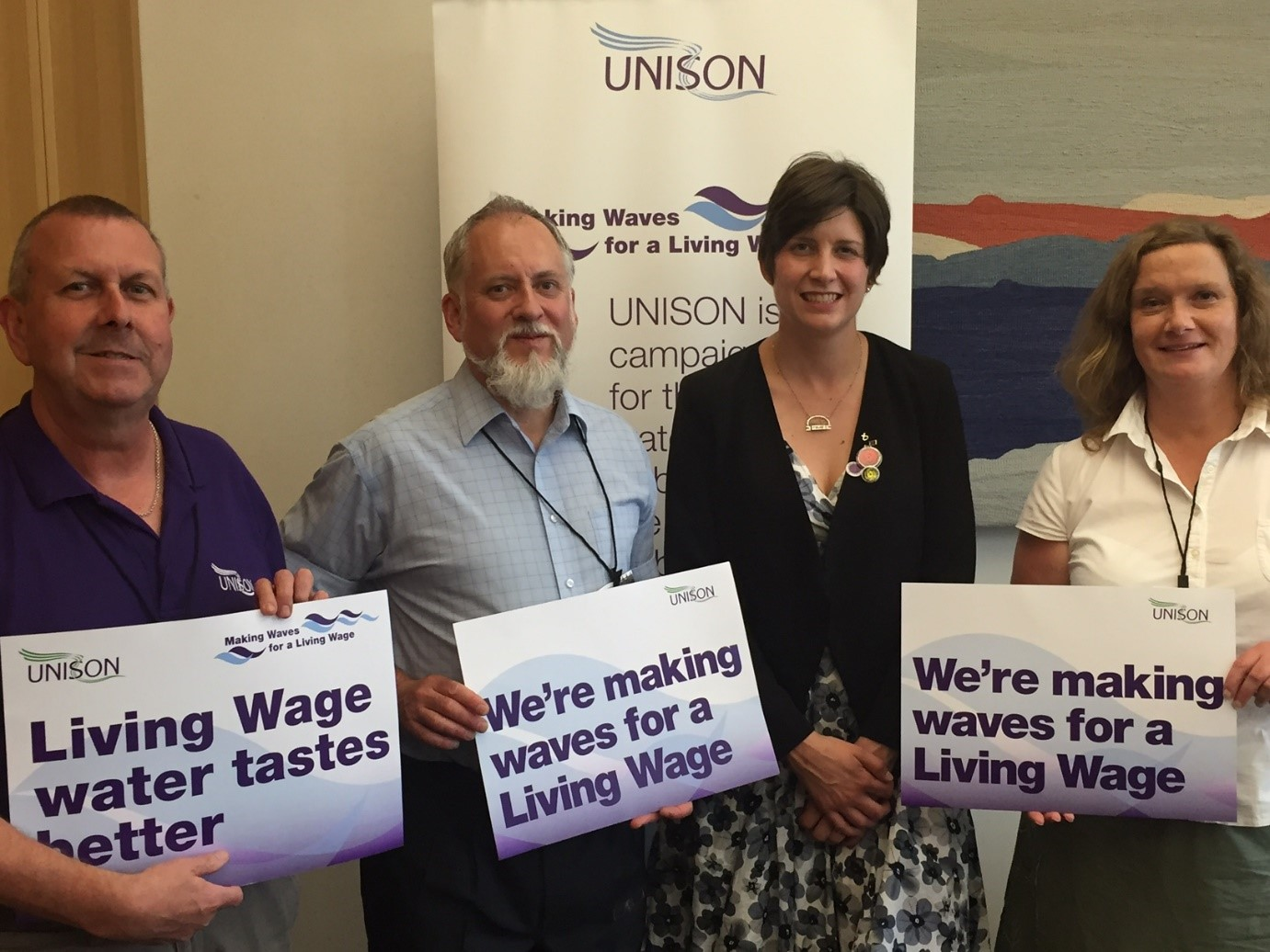 Alison Thewliss MP supports campaign for a Living Wage in the Water Industry