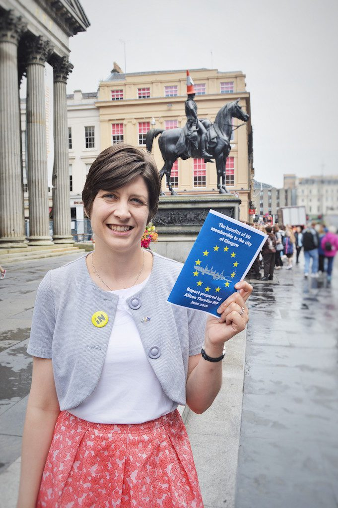 Alison Thewliss MP - launch of EU benefits to Glasgow report for web