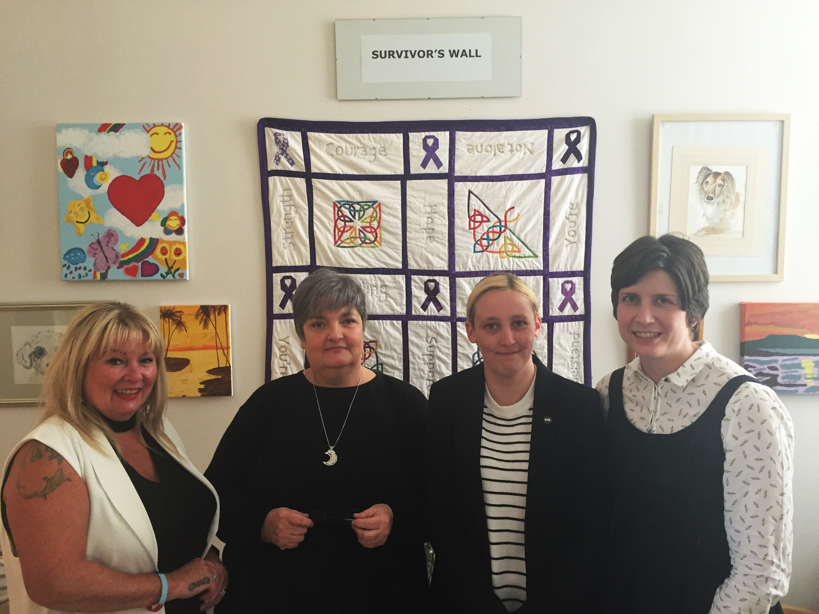 Alison Thewliss MP with Mhairi Black MP and representatives of Glasgow Rape Crisis Centre