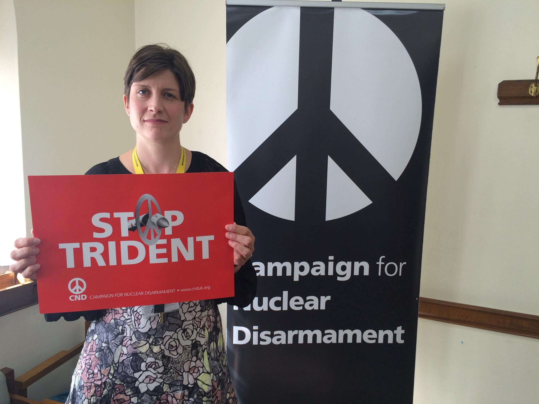 Alison Thewliss MP campaigning against the renewal of Trident nuclear weapons