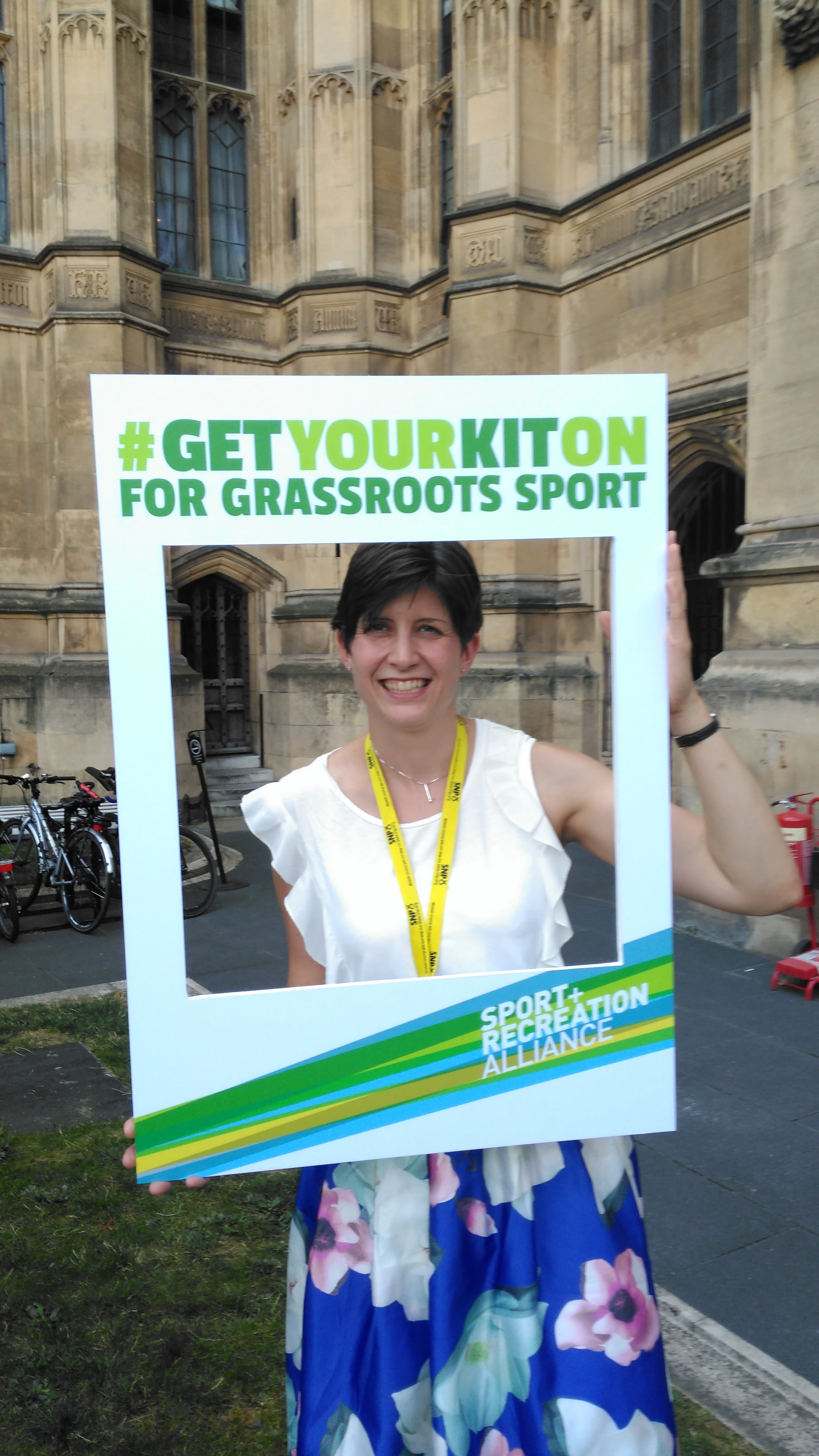 Alison Thewliss MP supports the Get Your Kit On campaign for grassroots sport