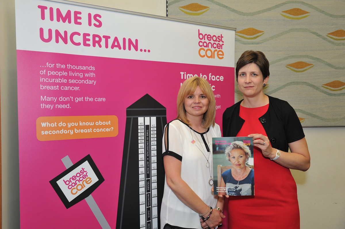 Alison Thewliss MP shows support for people living with incurable secondary breast cancer