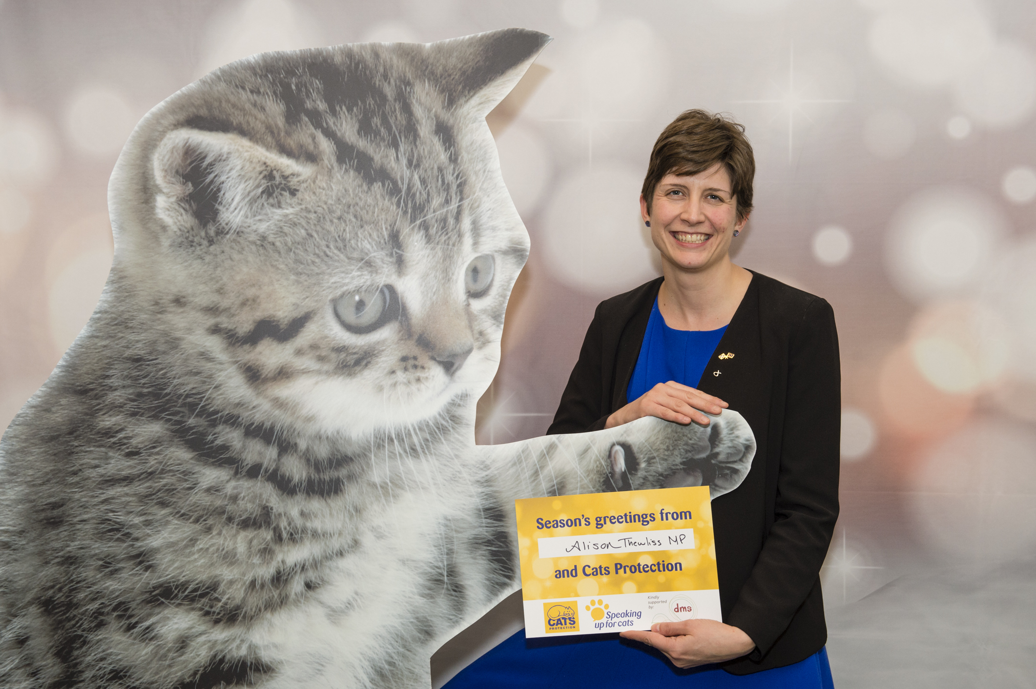 Alison Thewliss MP joins in feline festivities at parliamentary reception
