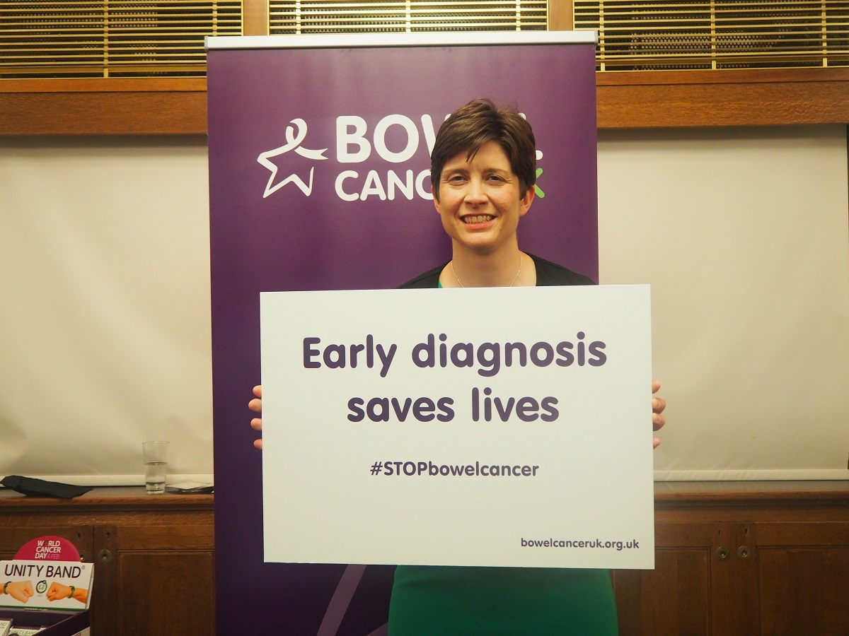 Alison Thewliss MP supports Bowel Cancer Awareness Month