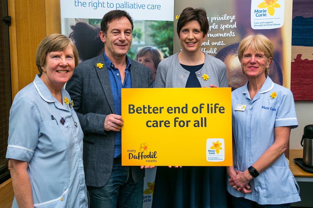 Alison Thewliss MP and Jason Isaacs 'Make Every Daffodil Count' for Marie Curie this March