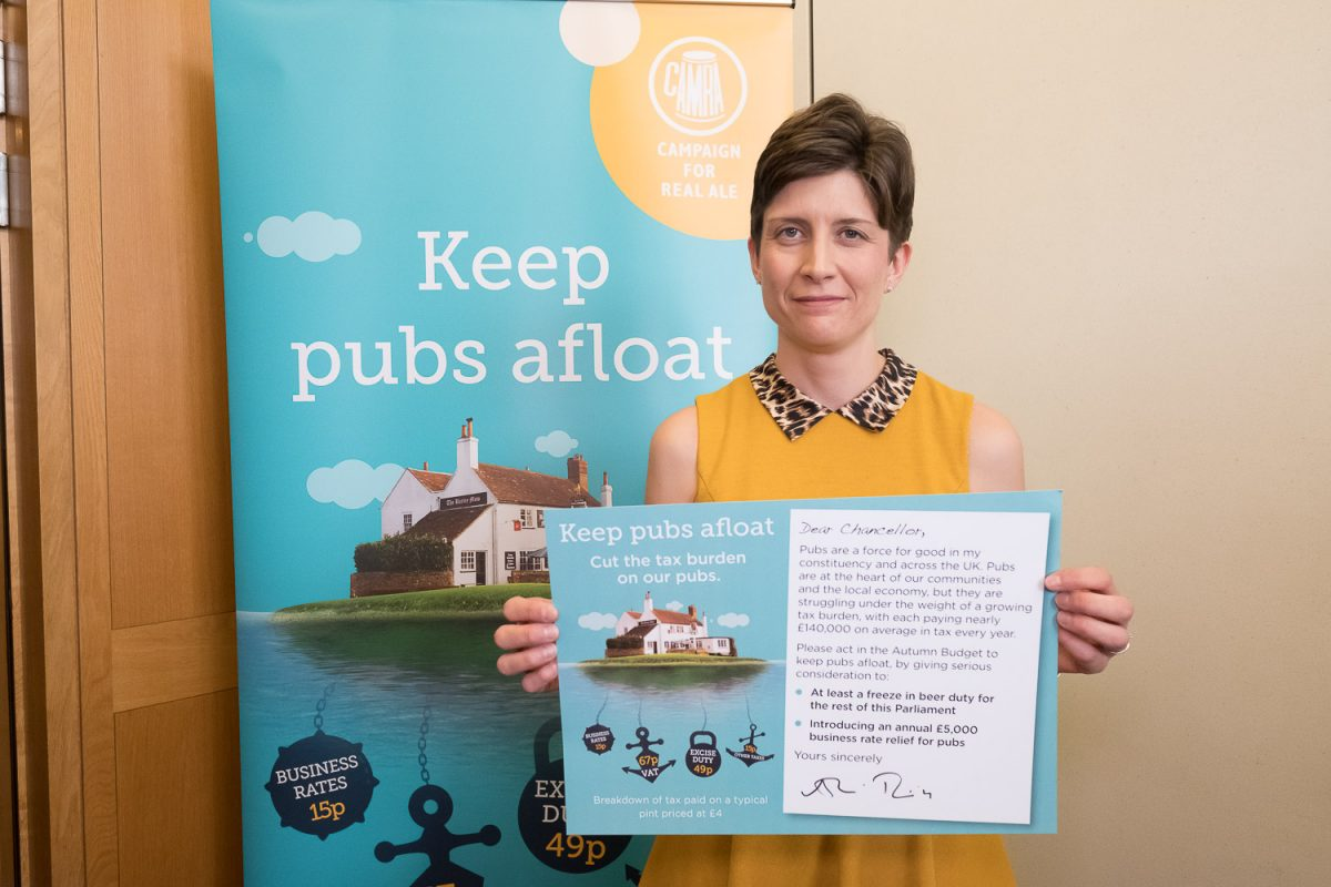 Alison Thewliss MP calls on Chancellor to Keep Pubs Afloat