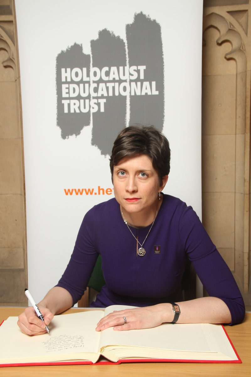Alison Thewliss MP signs Holocaust Educational Trust Book of Commitment