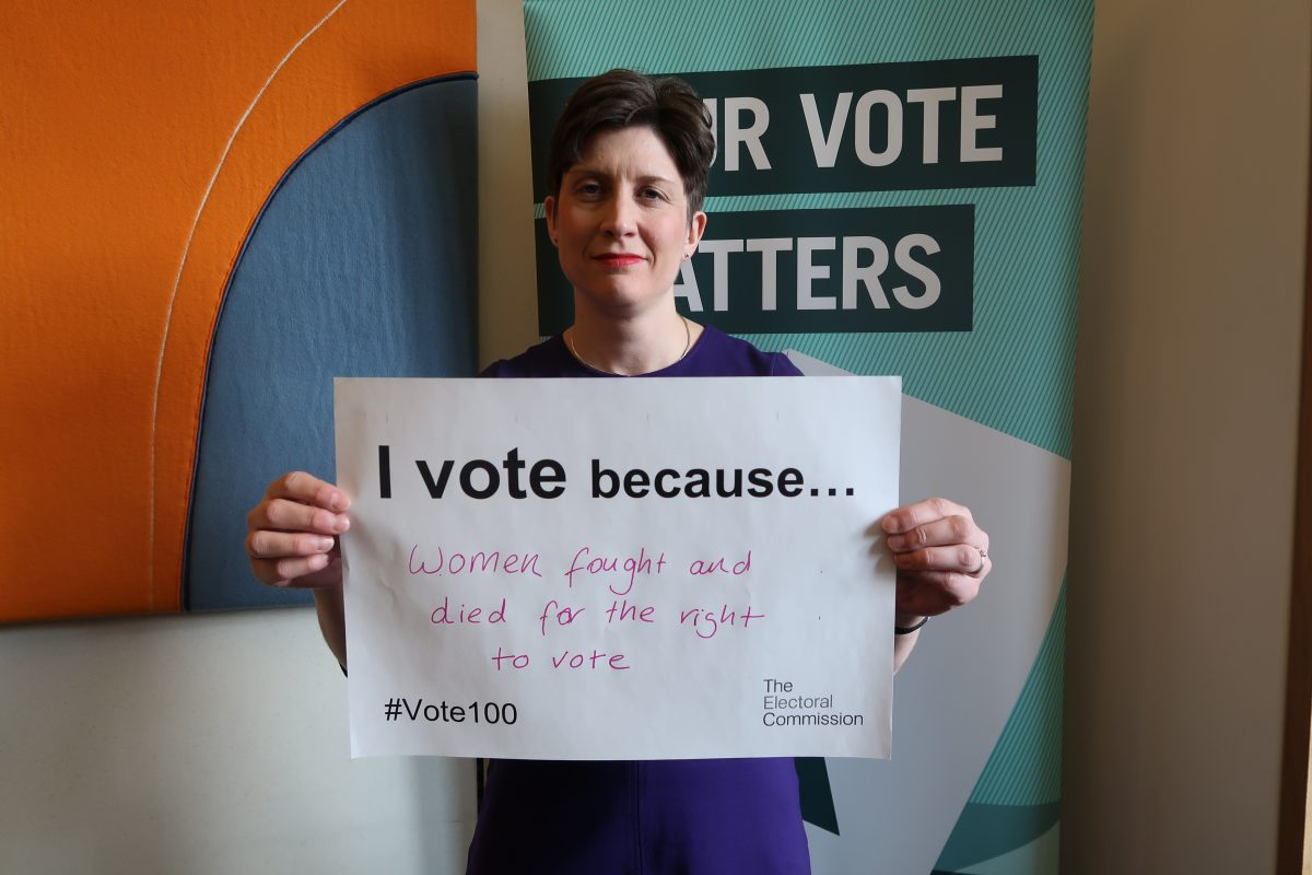 MP celebrates right to vote to mark centenary of women's suffrage