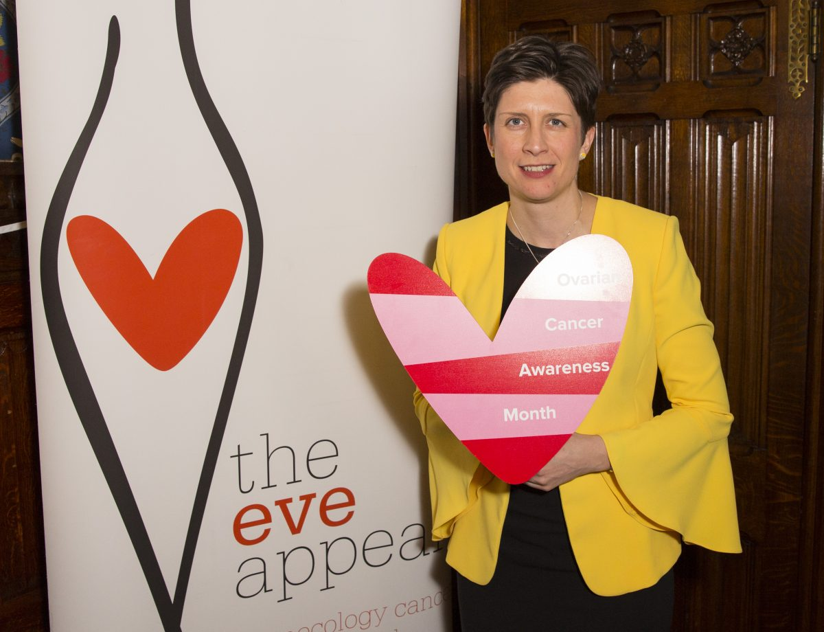 MP raises awareness of ovarian cancer with The Eve Appeal