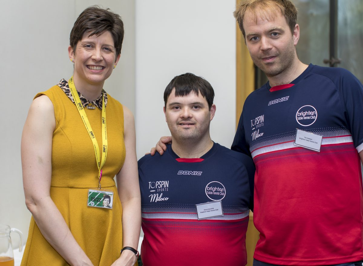 Alison Thewliss MP worked up a sweat meeting athletes with a learning disability