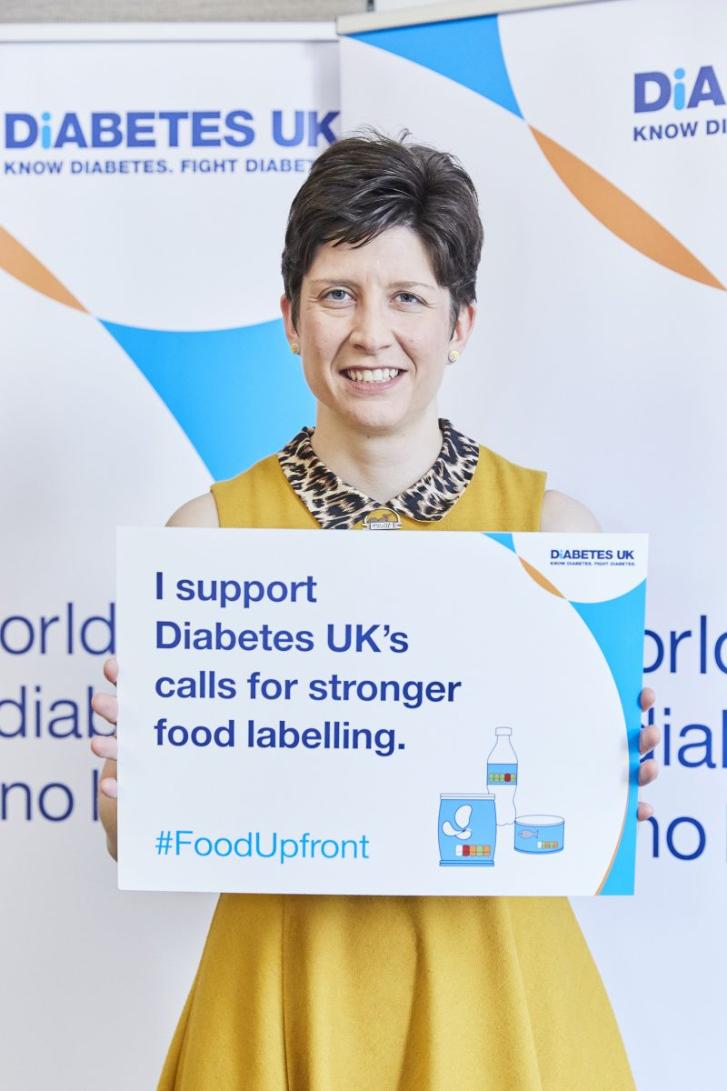 Alison Thewliss MP pledges support for Diabetes UK food labelling campaign